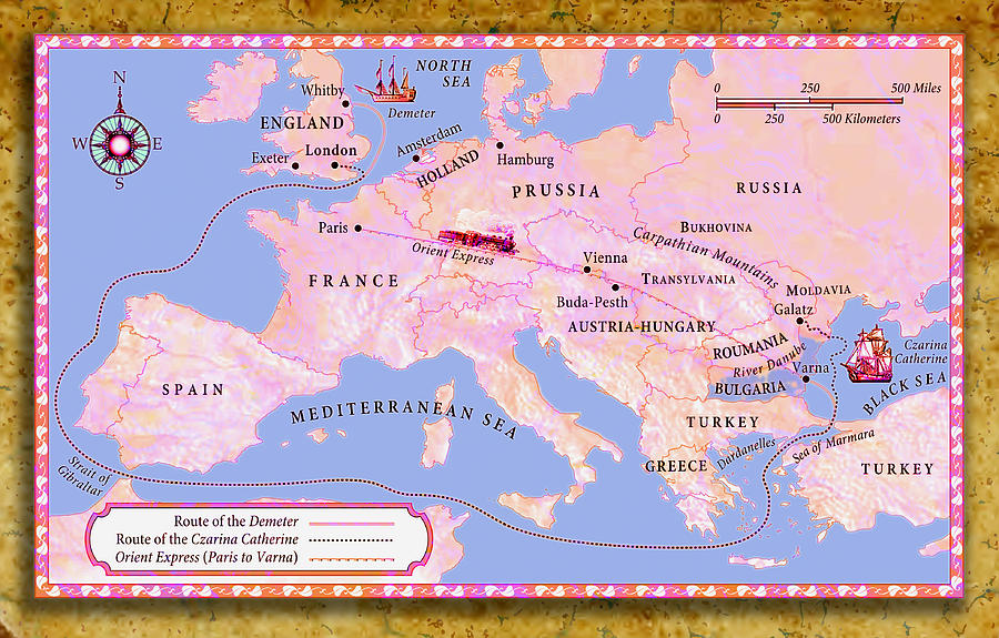 Europe 1890 The Orient Express Digital Art