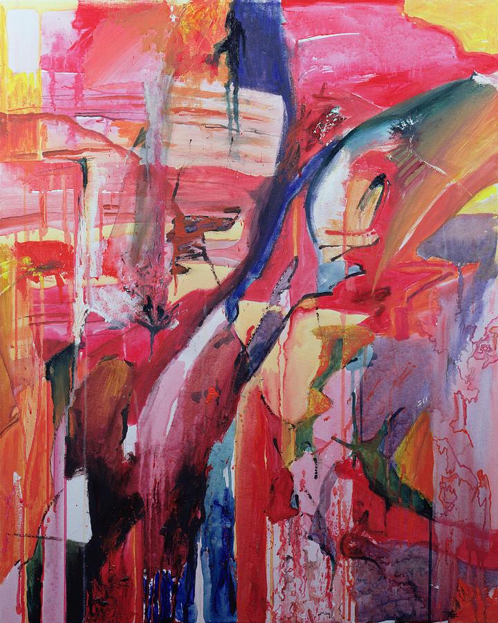 Abstract; Red; Comforting Painting - Euskadi by Thomas Hampton