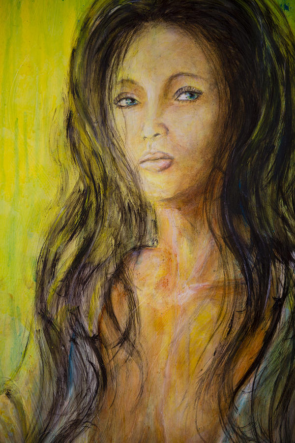 Eve Portrait  Painting  - Eve Portrait  Fine Art Print
