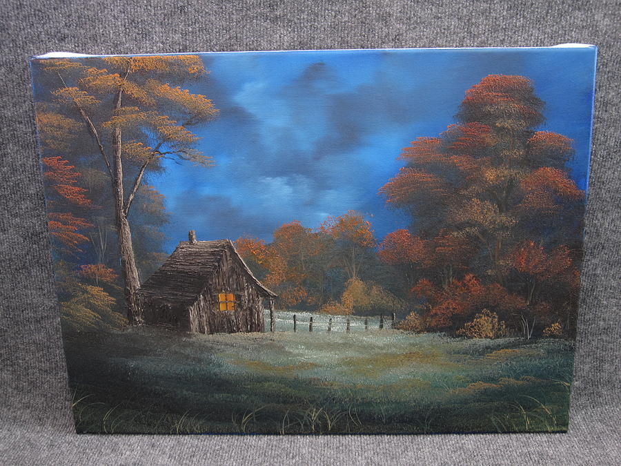Evening Cabin  Painting