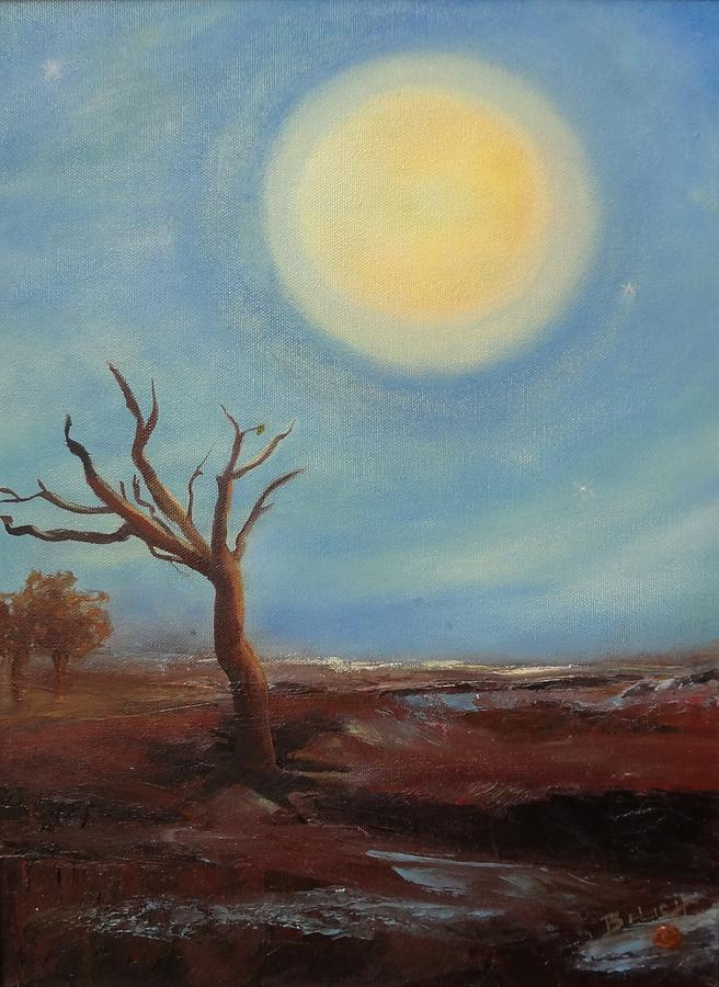 Evening Glow...hope Painting  - Evening Glow...hope Fine Art Print