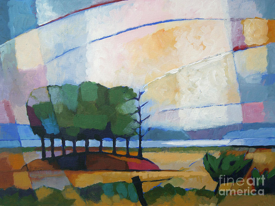 Evening Landscape Painting  - Evening Landscape Fine Art Print