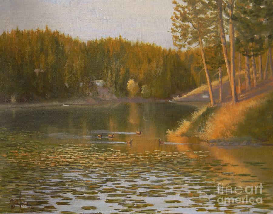 Evening Light On Avondale Painting