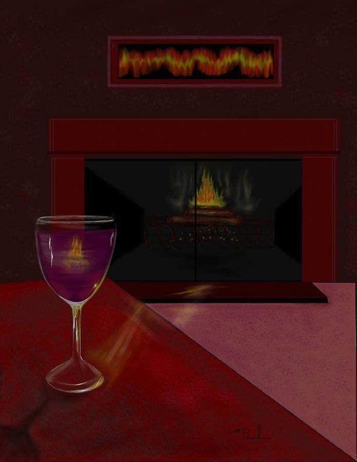 Wine Mixed Media - Evening Reflection by William  Paul Marlette
