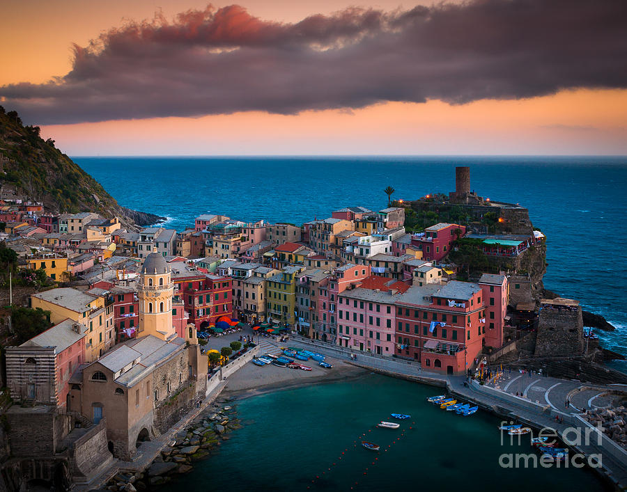 Evening Rolls Into Vernazza Photograph  - Evening Rolls Into Vernazza Fine Art Print