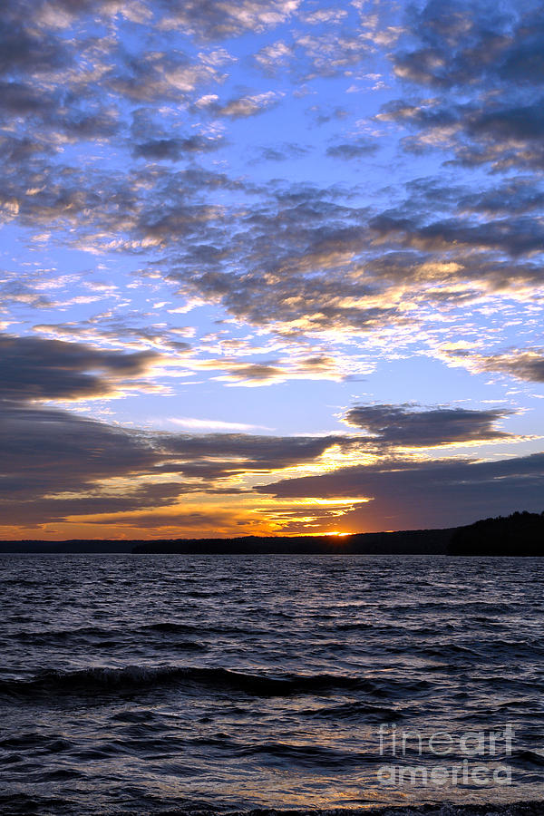 Pennsylvania Photograph - Evening Sky Over Lake by Olivier Le Queinec