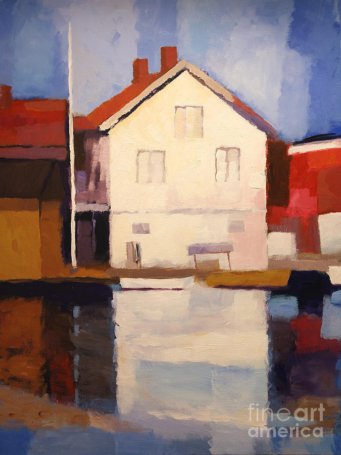 Impressionism Painting - Evening Sun by Lutz Baar