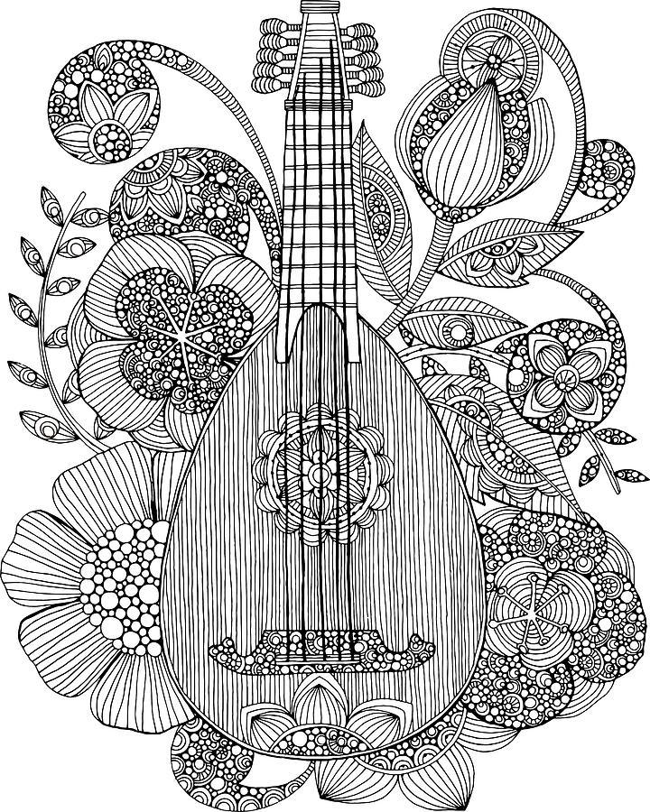 mandolin coloring pages - photo#9