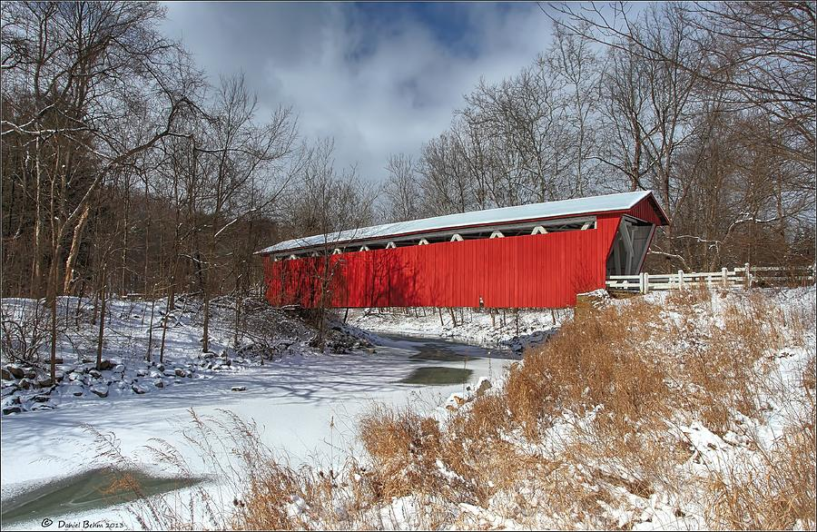 Everett Rd. Covered Bridge Photograph
