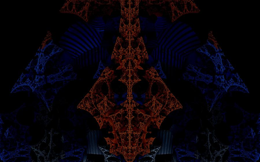 Evil Lurks In The Darkness Digital Art  - Evil Lurks In The Darkness Fine Art Print