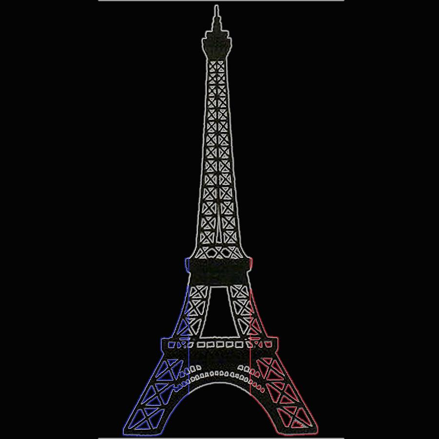 Evil Tower And France Flag is a piece of digital artwork by Lovely ...