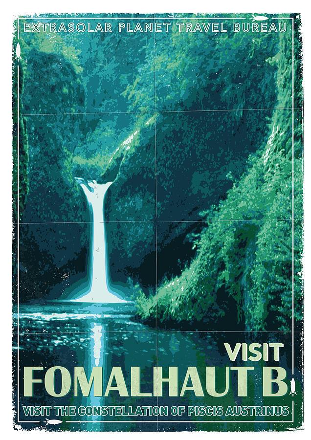 Exoplanet 04 Travel Poster Fomalhaut B Digital Art