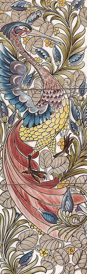 Exotic Bird Tapestry - Textile  - Exotic Bird Fine Art Print