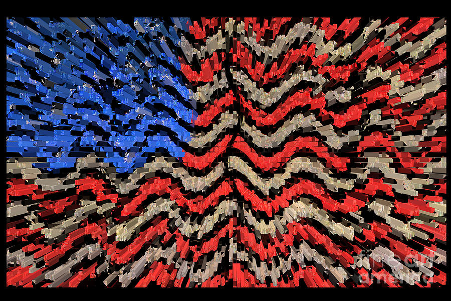 Exploding With Patriotism Photograph  - Exploding With Patriotism Fine Art Print
