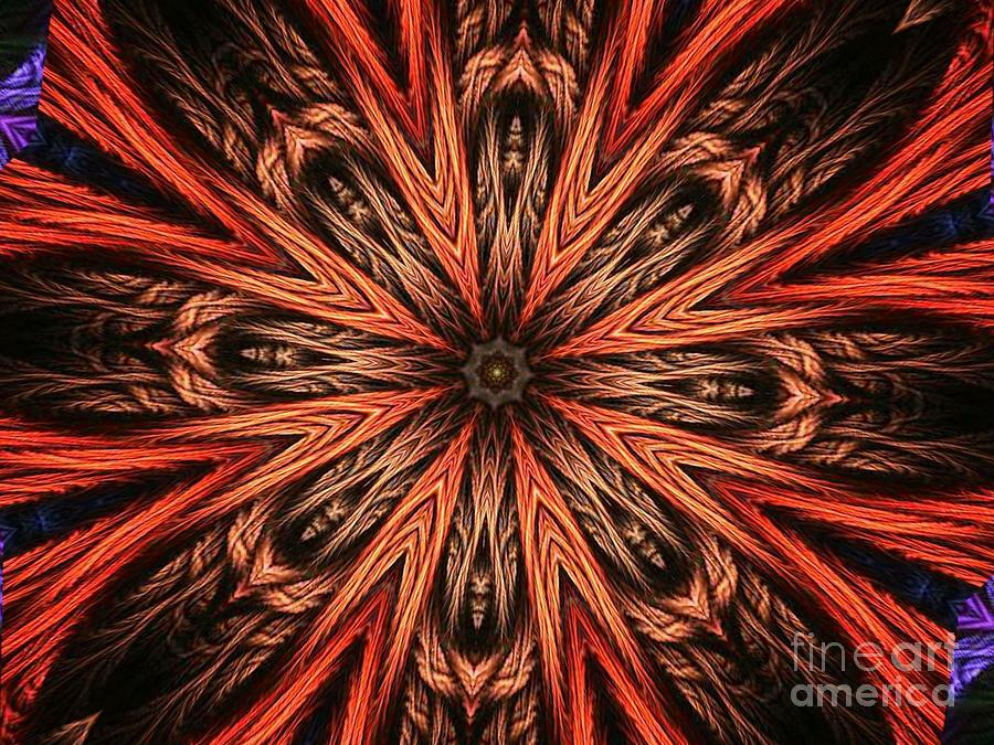 Explosion Of A Carrot  Digital Art  - Explosion Of A Carrot  Fine Art Print