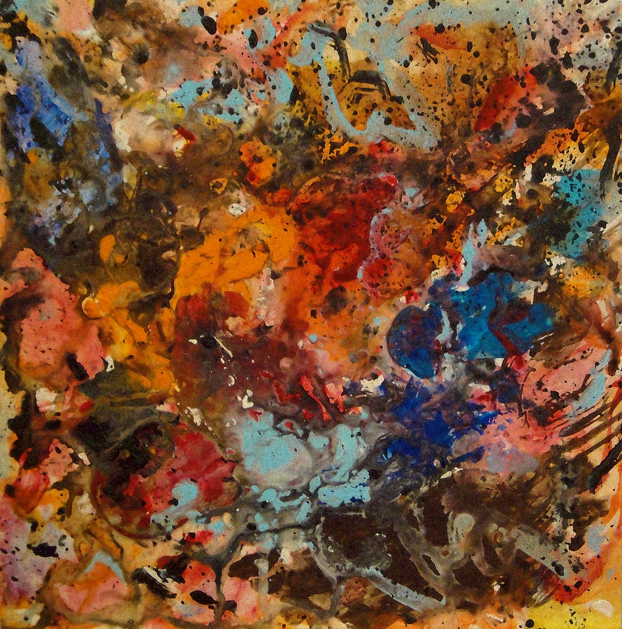 Explosive Chaos Painting