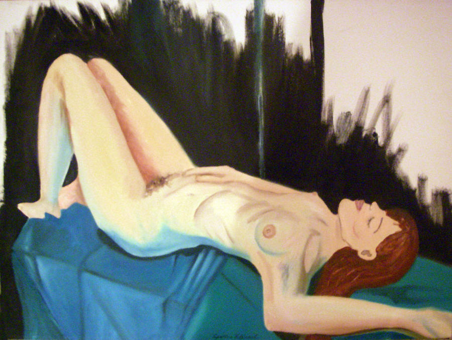 Nude Lady Painting - Exposed by Cynthia Hilliard
