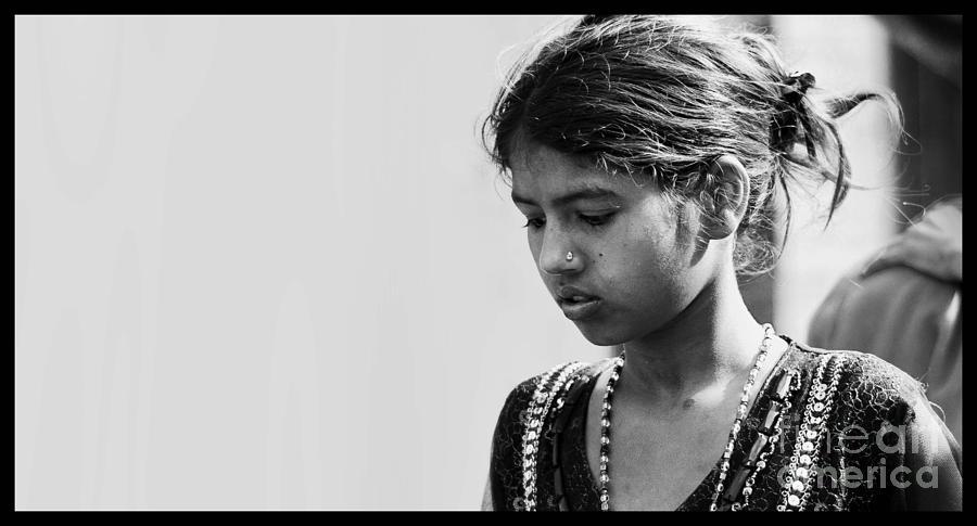 People  Pyrography - Expression by Gajendra Jha