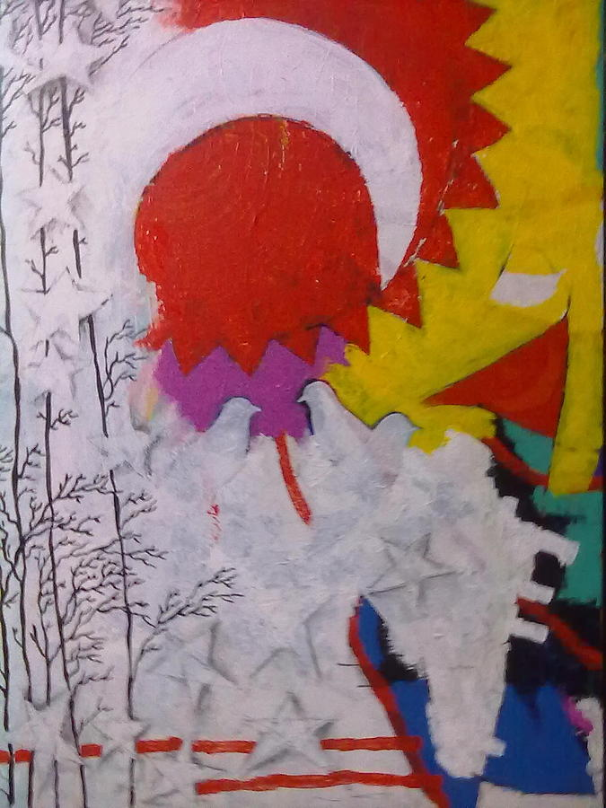 Moon Painting - Extraordinary Defacto by Sahid Ahmed