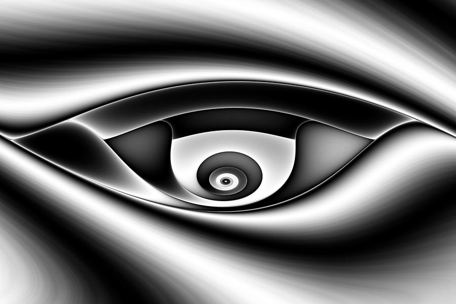Eye Of A Stranger No. 1 Digital Art  - Eye Of A Stranger No. 1 Fine Art Print