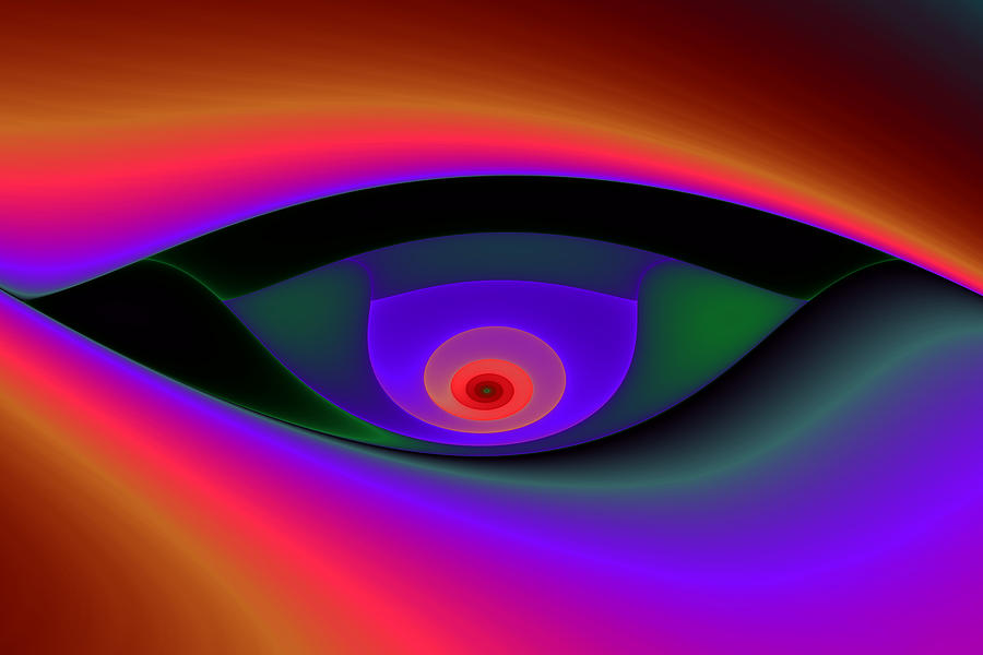 Eye Of A Stranger No. 2 Digital Art  - Eye Of A Stranger No. 2 Fine Art Print