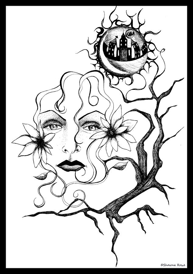 Eye Of The Beholder Drawing  - Eye Of The Beholder Fine Art Print
