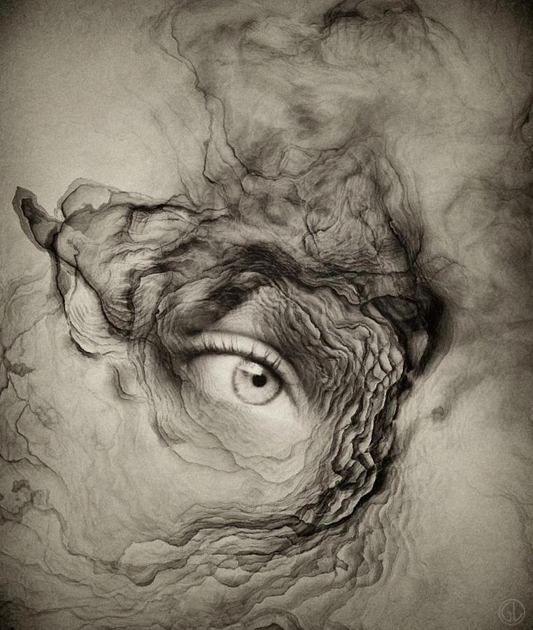 Fractal Digital Art - Eye Of The I by Gun Legler