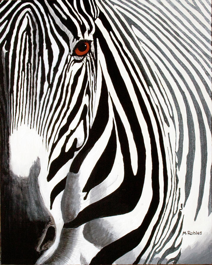 Eye Of The Zebra Painting  - Eye Of The Zebra Fine Art Print
