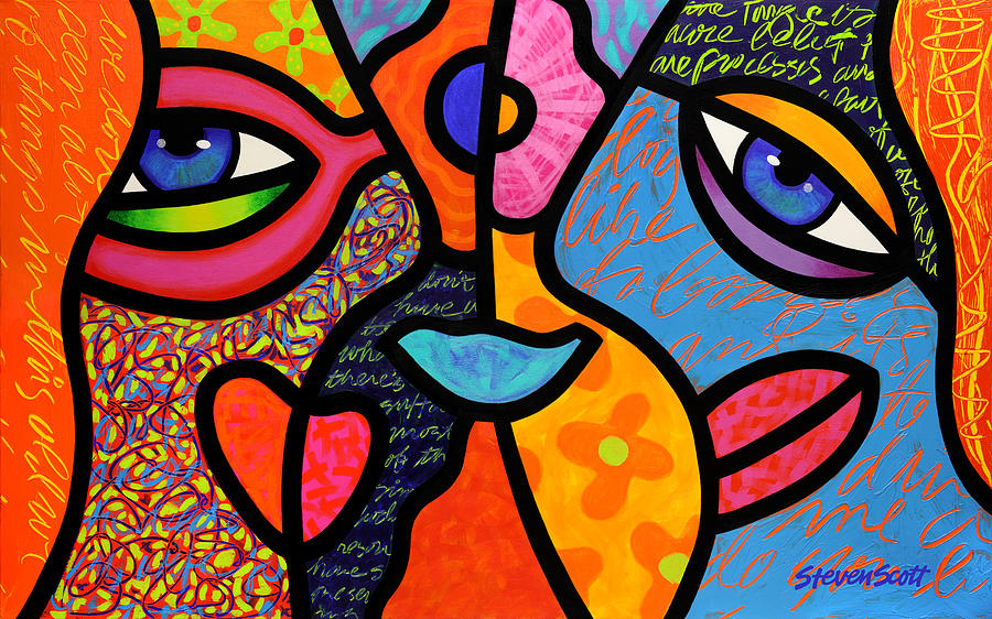 Eye To Eye Painting  - Eye To Eye Fine Art Print
