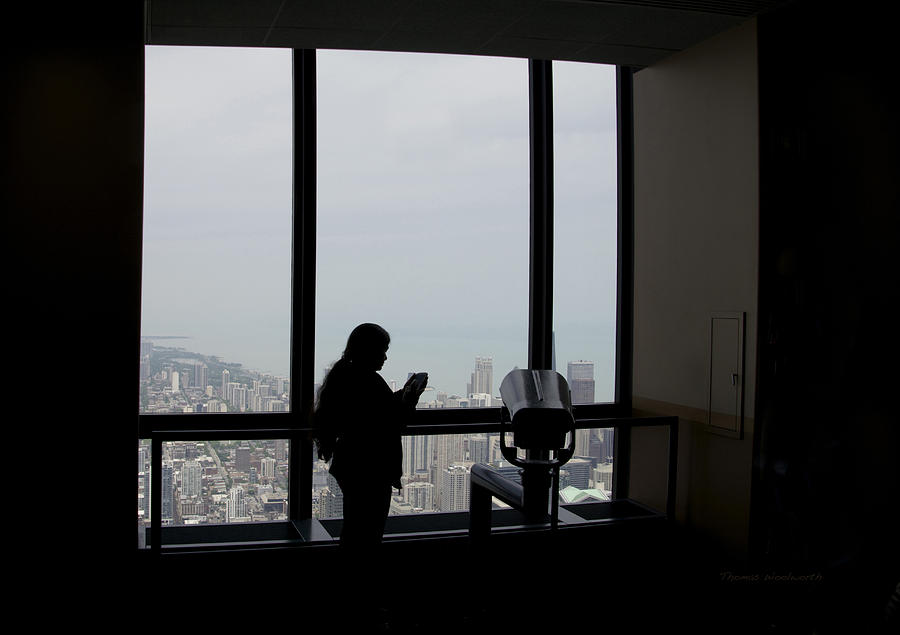 Eyes Down From The 103rd Floor Texting From The Top Of The World Photograph