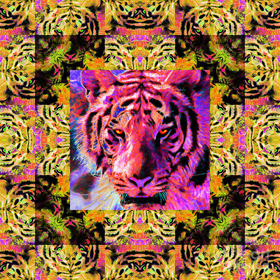 Eyes Of The Bengal Tiger Abstract Window 20130205p80 Photograph  - Eyes Of The Bengal Tiger Abstract Window 20130205p80 Fine Art Print
