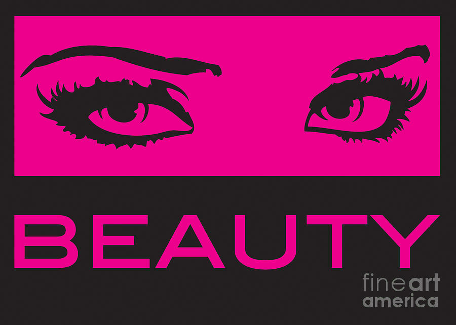 Eyes On Beauty Digital Art  - Eyes On Beauty Fine Art Print