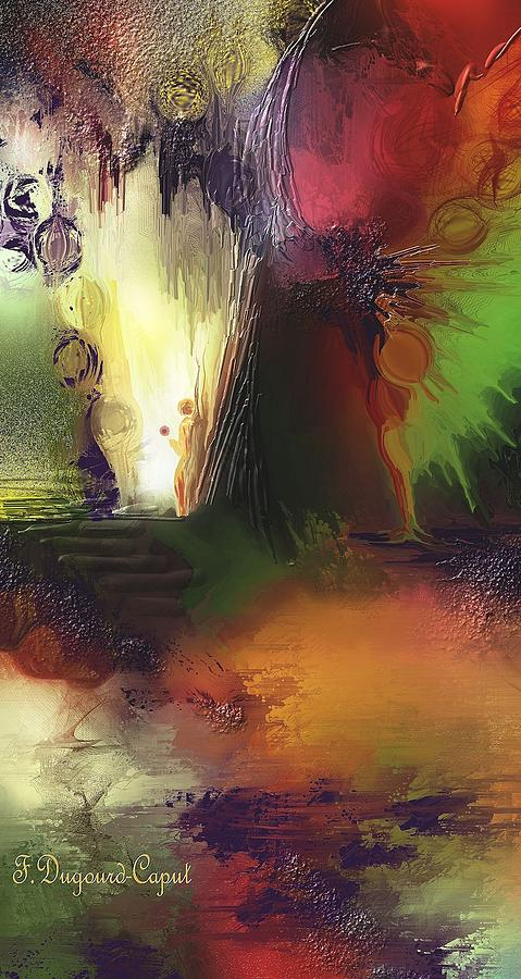 Abstract Painting - Eygirunne by Francoise Dugourd-Caput