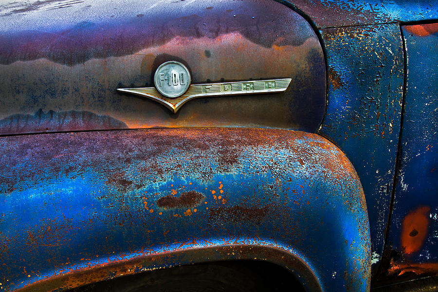 Appalachia Photograph - F-100 Ford by Debra and Dave Vanderlaan