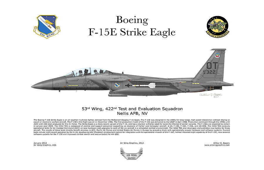 F-15e Strike Eagle 442d Tes Digital Art  - F-15e Strike Eagle 442d Tes Fine Art Print