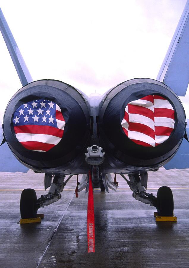 F/a - 18 Hornet Fighter Jet Photograph
