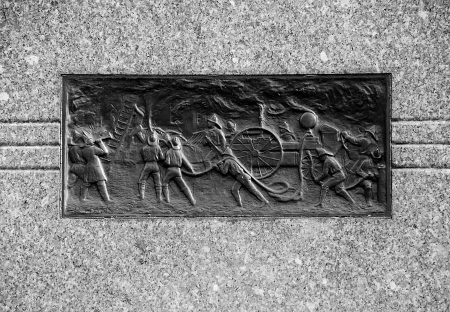 F. D. N. Y. In Black And White Relief