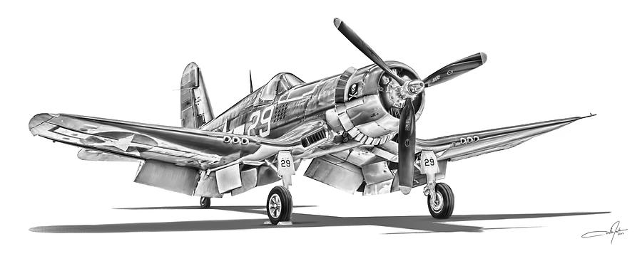 F4u Corsair Digital Art