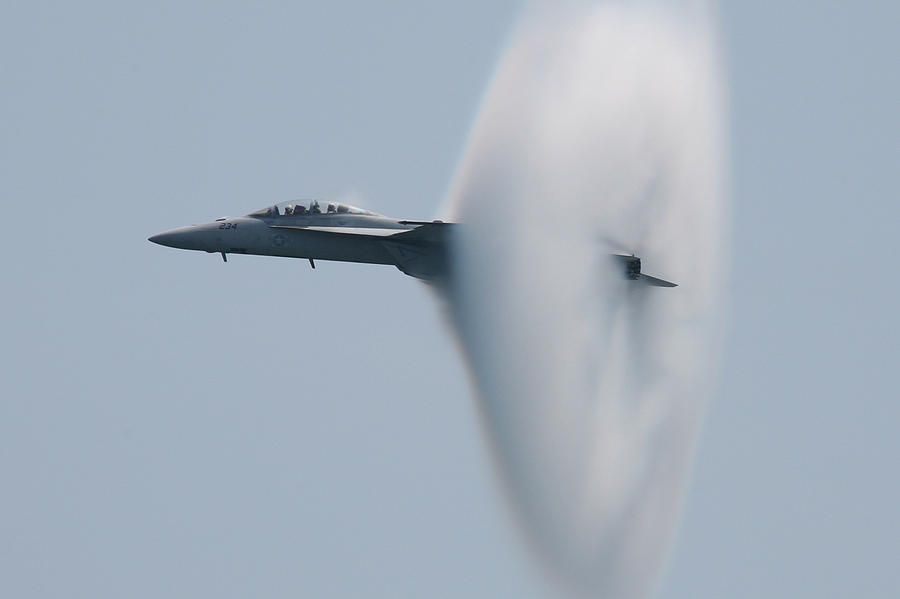 Fa 18 Super Hornet Vapor Circle 2 Photograph
