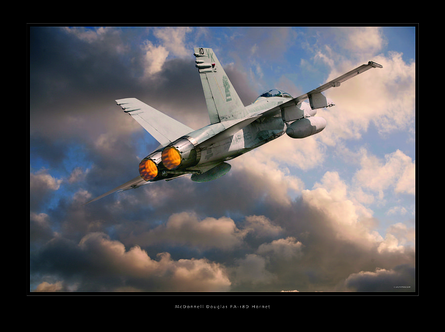 F-18 Hornet Framed Prints Photograph - Fa-18d Hornet by Larry McManus