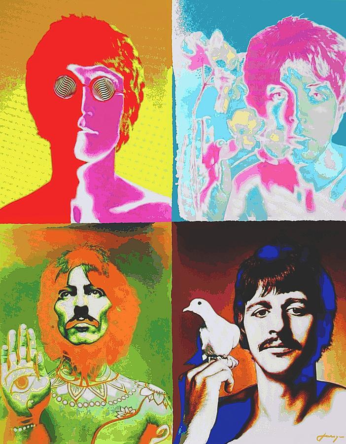 Fab Four Digital Art