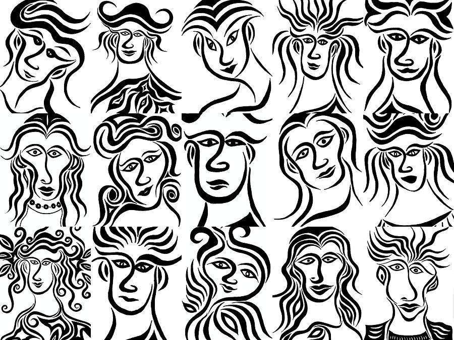 Face Dances Drawing