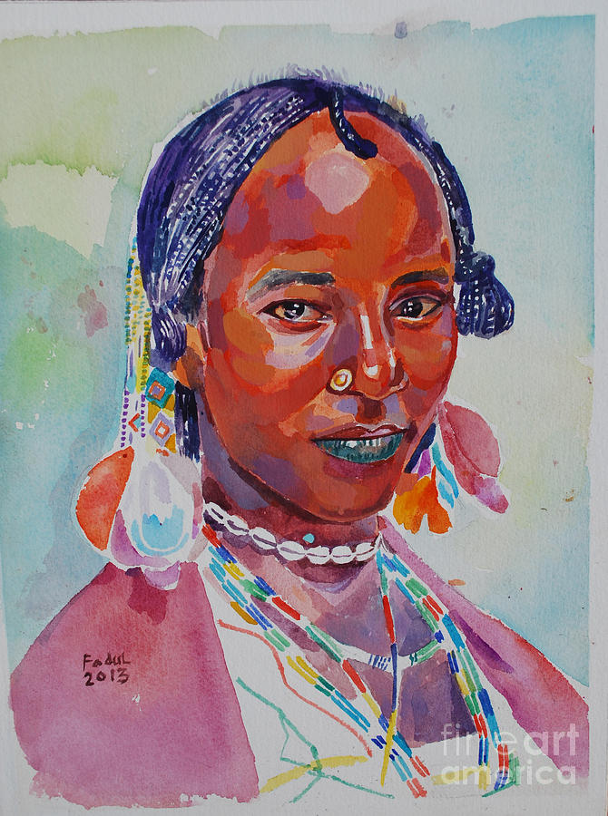 Face From Sudan  2 Painting
