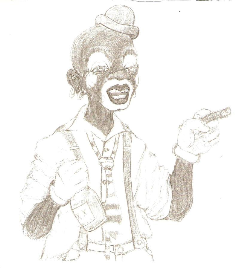 Face The Clown Drawing