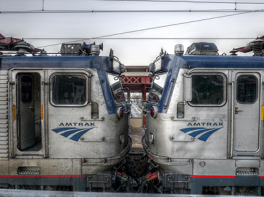Face To Face On Amtrak Photograph