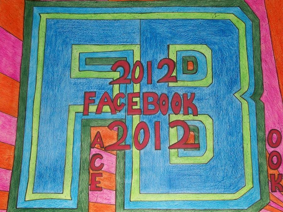 Timeline 2013 Painting - Facebook by Jonathon Hansen