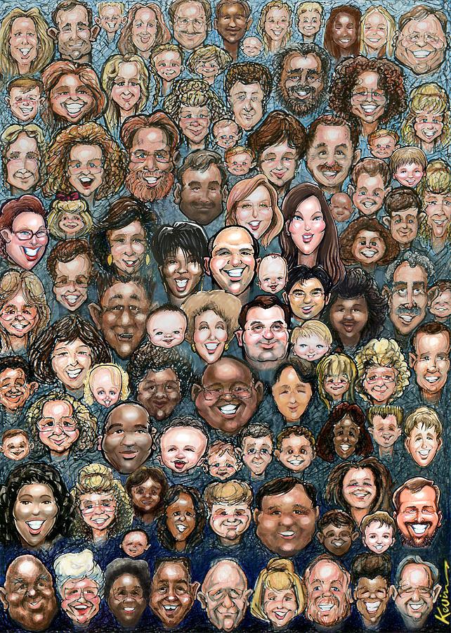 Faces Of Humanity Digital Art