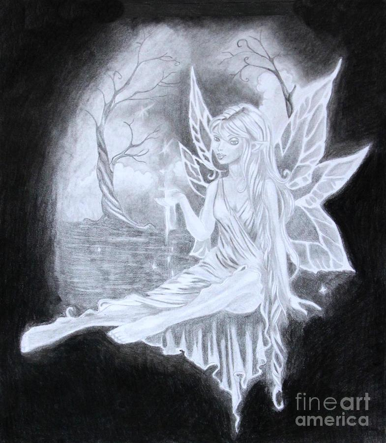 Fairy  Drawing  - Fairy  Fine Art Print