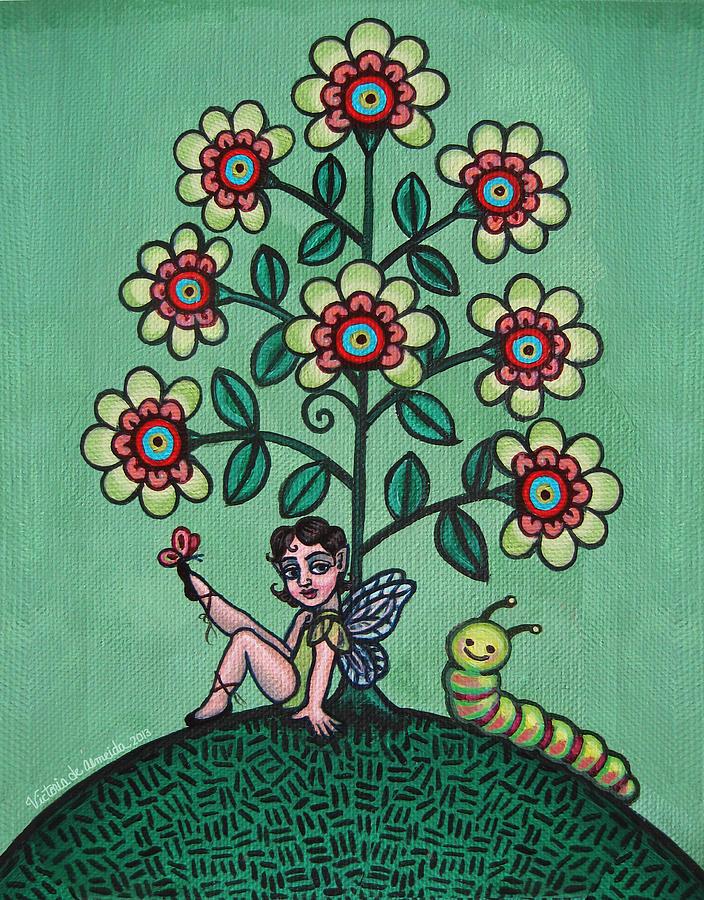 Fairy Painting - Fairy Series Katrina by Victoria De Almeida