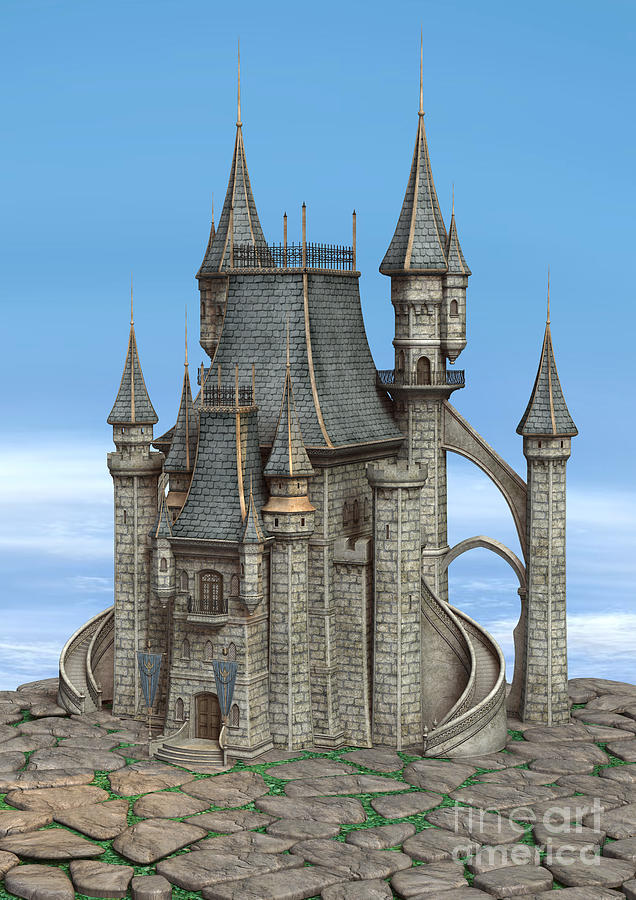 Fairy tale castle digital art by design windmill for Castle design